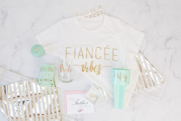 Contents off Bridal Box laid out flat