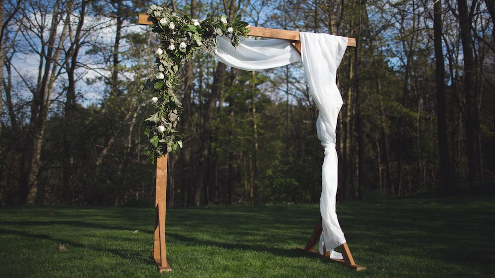 DIY Wedding Decor Ceremony Arch by the Sorry Girls